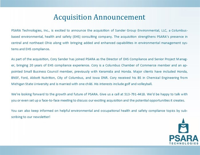 Acquisition Announcement Draft Vfinfront